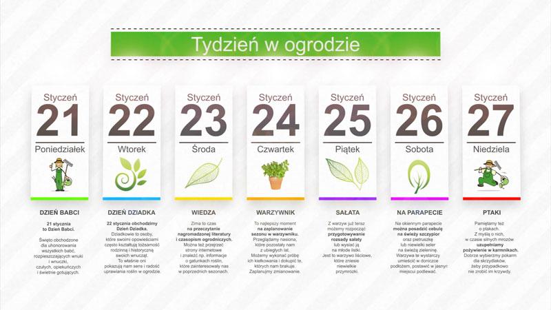 Kalendarz ogrodnika na 21.01 – 27.01 – styczeń w ogrodzie