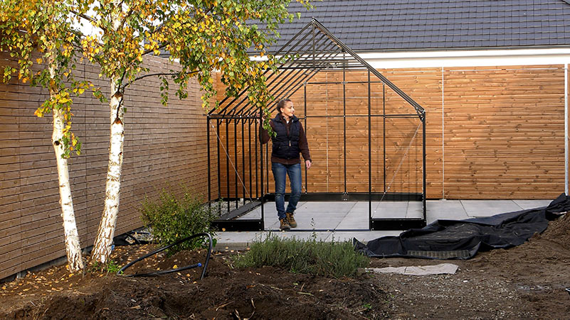 Przebudowa ogrodu - szklarnia